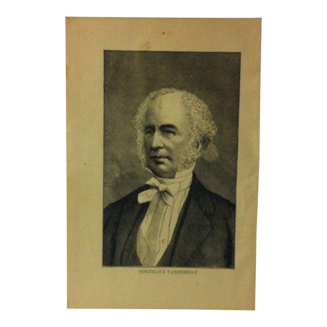 "1880 ""Cornelius Vanderbilt"" Successful Self-Made Men Print on Paper For Sale"