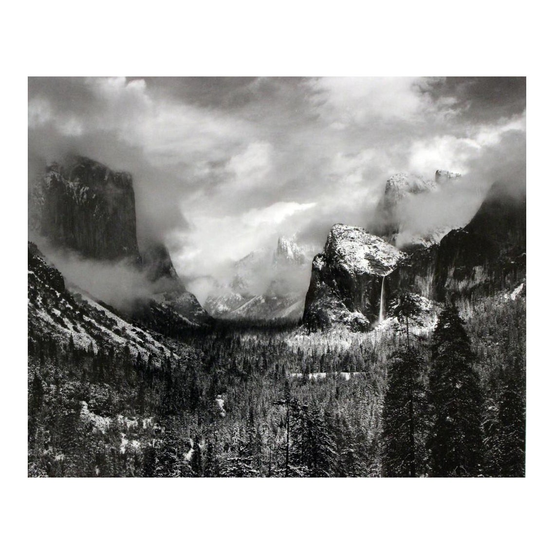 """Framed Ansel Adams """"Clearing Winter Storm"""" Yosemite Valley ... Ansel Adams Clearing Winter Storm Yosemite"""