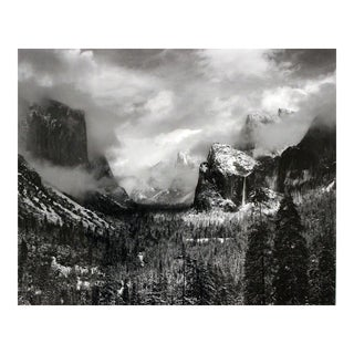 "Framed Ansel Adams ""Clearing Winter Storm"" Yosemite Valley Print"