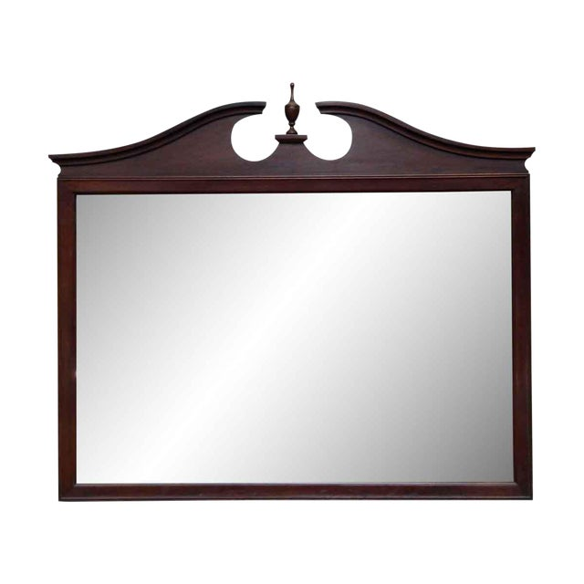 Traditional Mahogany Dresser Mirror For Sale