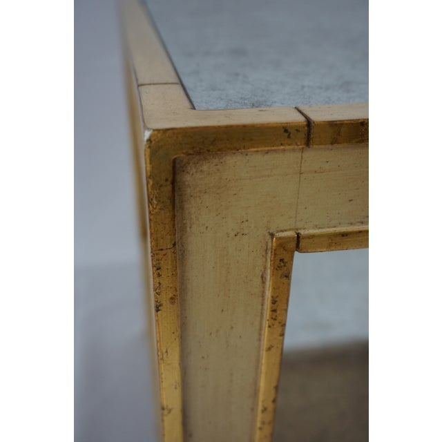 Modern History Home Eglomise Side Table For Sale - Image 4 of 7