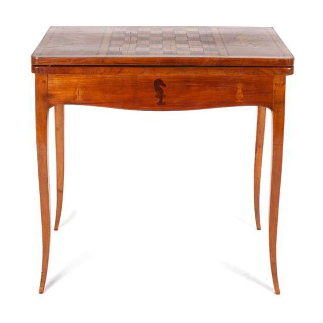 19th Century English Traditional Fruitwood Game Table With Inlay For Sale - Image 13 of 13