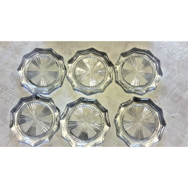 Mid-Century Cut Glass Coasters & Holder - Set of 12 - Image 5 of 5