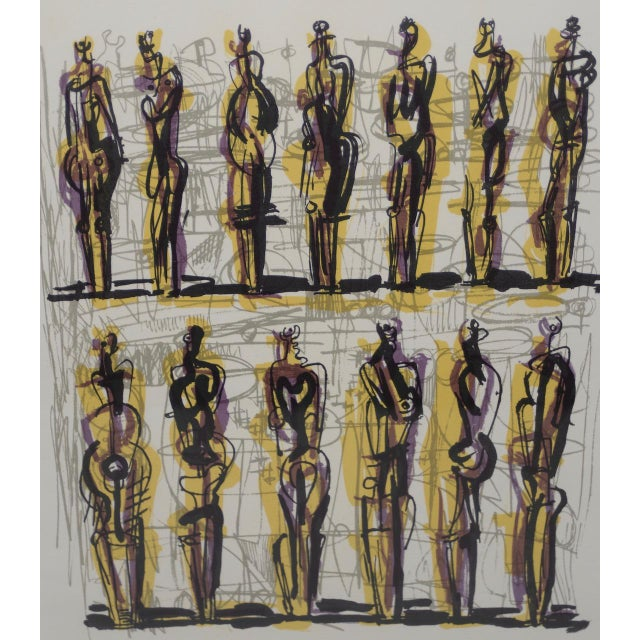 "1958 Henry Moore ""Thirteen Standing Figures"" Original Lithograph For Sale In San Francisco - Image 6 of 9"