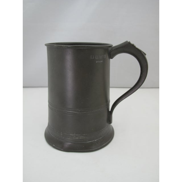 Metal 19th Century Victorian One Quart Pewter Tankard For Sale - Image 7 of 7