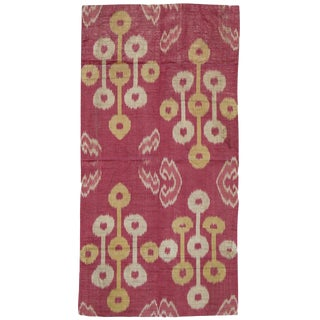 Antique Silk Ikat Panel For Sale