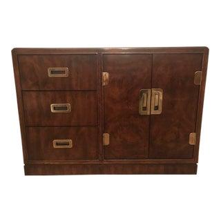 1970s Mid-Century Modern Walnut Buffet Cabinet For Sale
