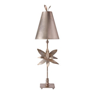 Azalea Silver Buffet Table Lamp For Sale