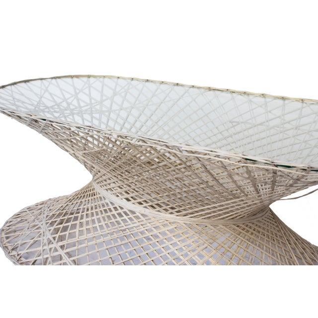 1960s Oval Spun Fiberglass Coffee Table For Sale - Image 5 of 6