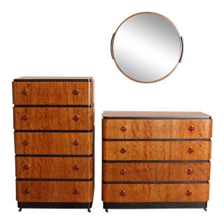 Art Deco Donald Deskey Valentine Seaver Bedroom Suite 3 Pieces For Sale