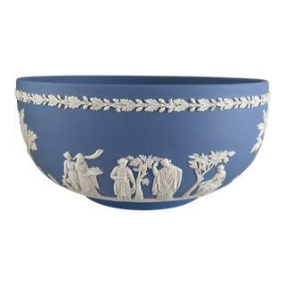 Wedgwood Blue Jasperware Centerpiece Bowl For Sale