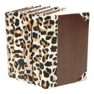 Western Collection in Leopard Hide - Set of 5 For Sale