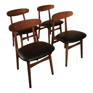 1970s Mid-Century Modern Rosewood Dinning Chairs - Set of 4 For Sale