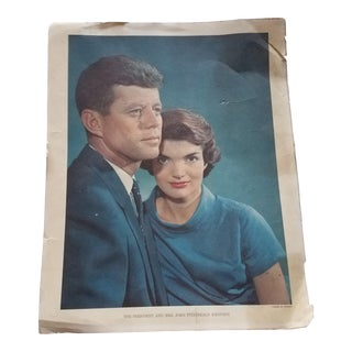 Vintage 1960s Jfk Karsh of Ottawa Print For Sale