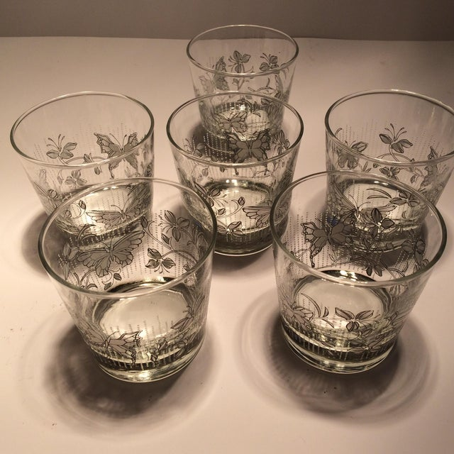 Vintage Butterfly Design Low Ball Glasses - Set of 6 - Image 11 of 11