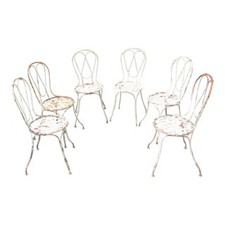 Late 19th Century French Garden Chairs - Set of 6 For Sale