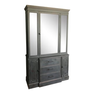 Charcoal Distressed China Cabinet