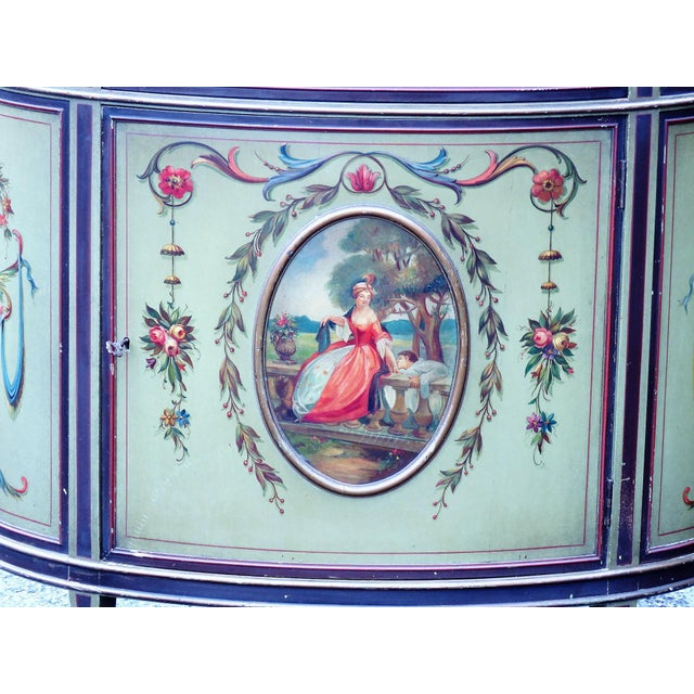 Adams Style Paint Decorated Commodes - A Pair For Sale - Image 9 of 9