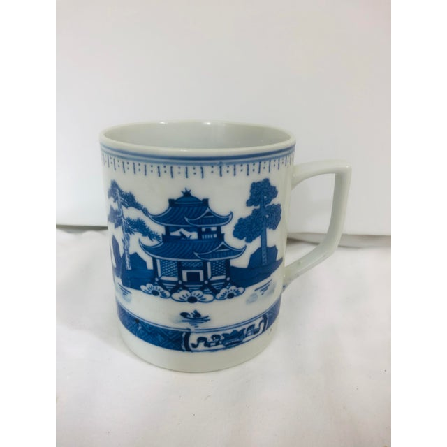 20th Century Blue and White Coffee Mug, Asian Markings For Sale - Image 4 of 4