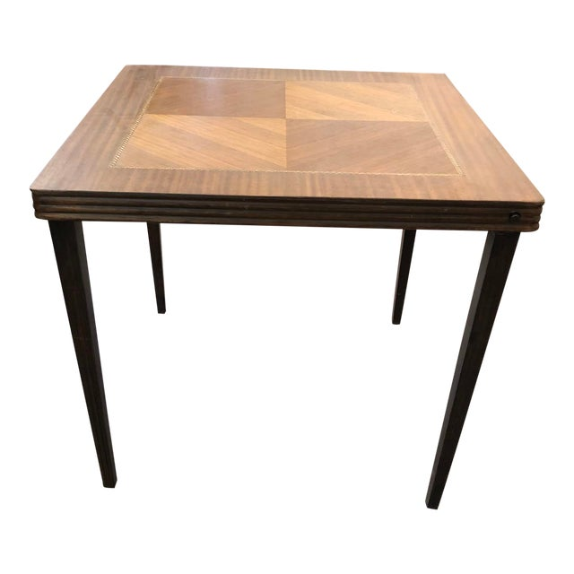 Vintage Mid Century Folding Card Table For Sale