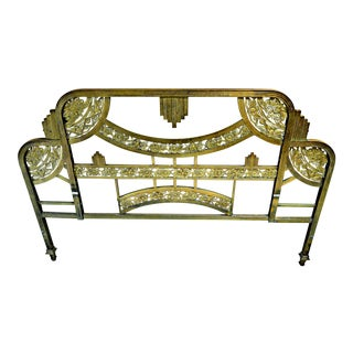 Art Deco Brass Bed Headboard