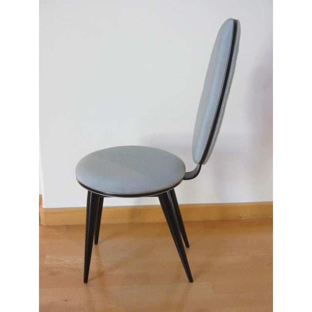 Art Deco Oval Back Lacquer Dining Chairs - 10 - Image 9 of 11