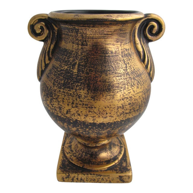 Stangl Black And Gold Urn Chairish