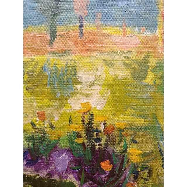 Canvas Abbott Pattison -The Purple Chair in a Garden Landscape - Oil Painting For Sale - Image 7 of 10