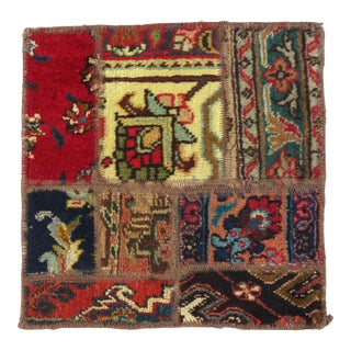Pasargad N Y Patch-Work Decorative Rug - 1′4″ × 1′4″ For Sale