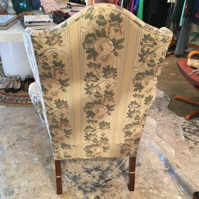 Pennsylvania House Chippendale Style Wingback Chair - Image 6 of 10