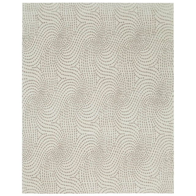 2010s ModernArt Collection - Customizable Sapphire Rug (4x6) For Sale - Image 5 of 5