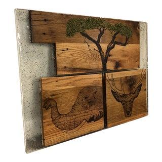 African Safari Sculptural Wood Home Decor For Sale