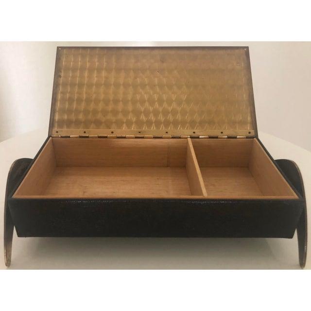 Leather/Brass Atomic Jewelry Box - Image 5 of 11