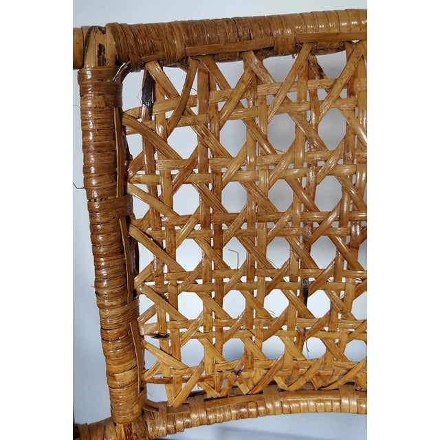 Rattan & Bamboo Folding Chairs - A Pair For Sale - Image 6 of 10