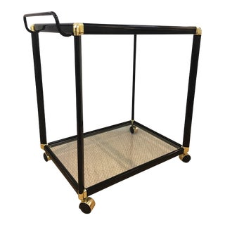 Vintage Black & Brass Bar Cart