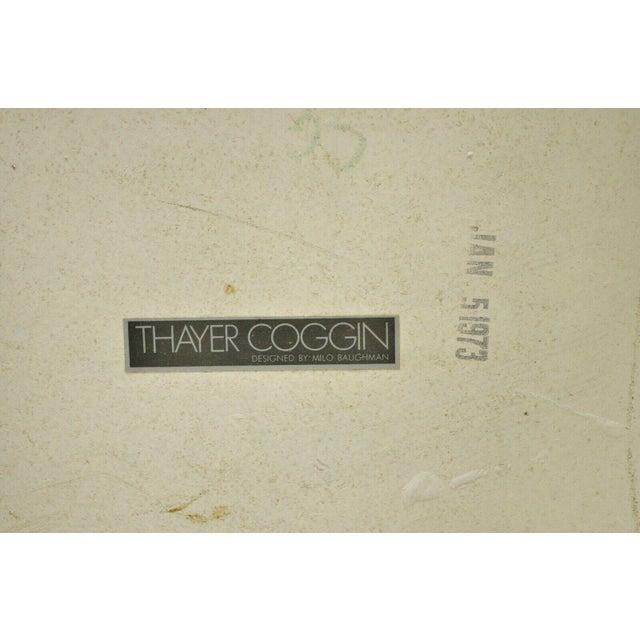 Plastic 1970s Vintage Thayer Coggin Milo Baughman Yellow Parsons Style Laminate End Table For Sale - Image 7 of 10