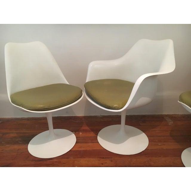 1960s 1960s Danish Modern Eero Saarinen for Knoll Tulip Chairs - Set of 6 For Sale - Image 5 of 10