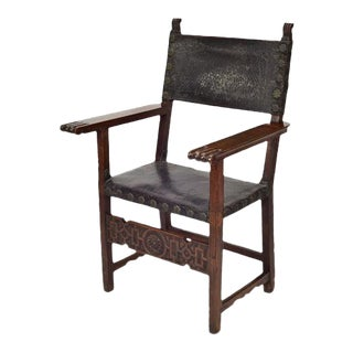 17th C. Spanish Renaissance Friar Chair