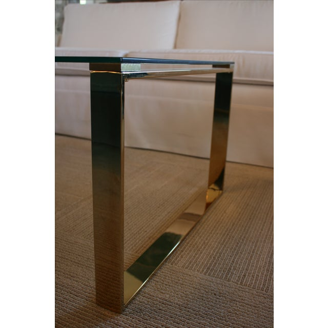Mid Century Inspired Glass Coffee Table - Image 5 of 5