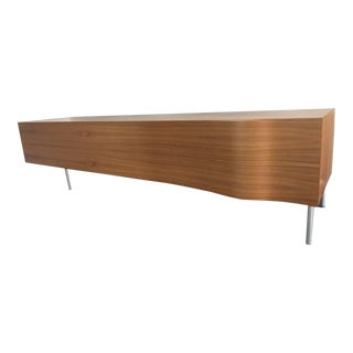 "Pallucco ""Breeze"" Italian Modern Walnut Credenza / Sideboard For Sale"