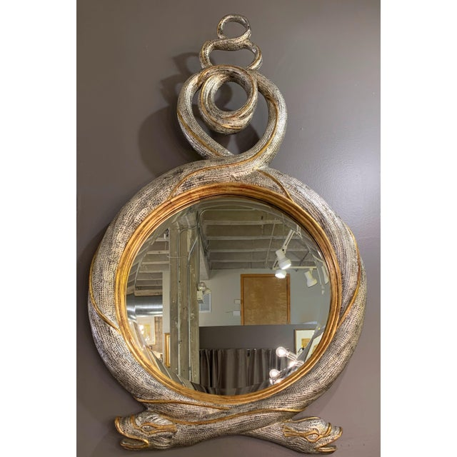 Mid 20th Century Maitland Smith Serpent Mirror For Sale - Image 12 of 12