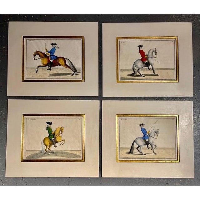 Four Engravings of Horse Riders L' Aimable, Le Joli, Le Sanspareil, Le Poupon For Sale - Image 9 of 11