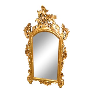 Rococo Style Gold Finished Wall Mirror For Sale