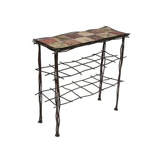 Iron & Tile Entry Table For Sale