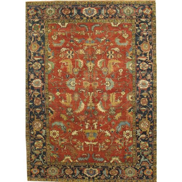 "Pasargad Serapi Lamb's Wool Area Rug- 9' 0"" x 12' 1"" For Sale"