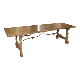 Antique Single Plank Chestnut Table From Spain For Sale