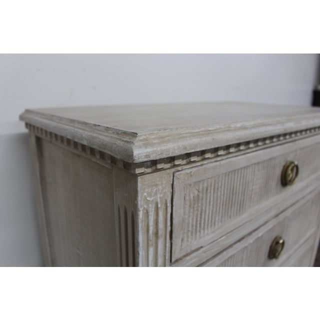 Mid-Century Modern 20th Century Vintage Swedish Gustavian Style Nightstands-A Pair For Sale - Image 3 of 11