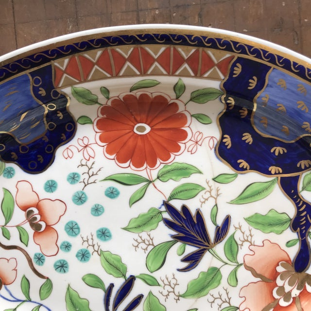Ceramic 1820s Gaudy Ironstone Platters - a Pair For Sale - Image 7 of 11