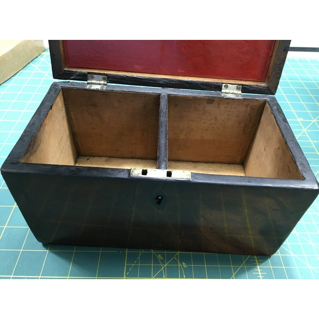 1800 English Regency Flamed Mahogany Double Tea Caddy For Sale - Image 12 of 12