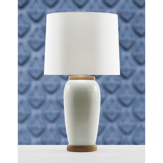 Lawrence & Scott Holden Table Lamp in White Oak For Sale In Seattle - Image 6 of 6